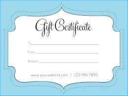 Gift Certicate Template Gift Certificate Template Pages 7058