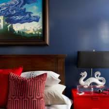modern blue master bedroom. A Blue Master Bedroom With An Asian-Inspired Twist Modern