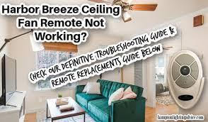 harbor breeze ceiling fan remote not