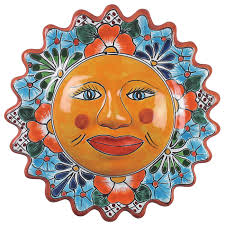 mexican talavera sun wall art