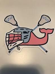 New Authentic Vineyard Vines Lacrosse Lax Whale Sticker