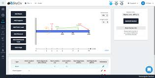 Free Beam Calculator Bending Moment Shear Force And