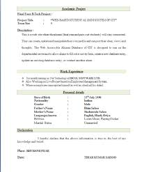 Gallery Of Best Resume Format For Freshers Top 10 Resume Formats