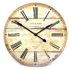 cafe rustic french cottage style old wood wall clock white traditional clocks