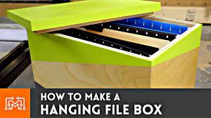 hanging file box. Hanging File Box // How-To