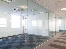 office glass panels. Frameless Glass Partitions Kent - Single Glazed Office Partitioning Panels