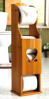 exotic wooden toilet paper holder stand country charming heart wooden toilet paper roll holder tower bath