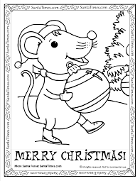Small Picture Christmas Mouse Printable Coloring Page