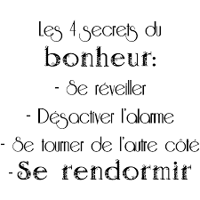 Sticker Citation Les 4 Secrets Du Bonheur