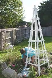 easy diy wooden garden obelisk