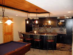Decorations:Inspirational Basement Idea With Bar And Pool Table Design  Inspirational Basement Idea With Bar