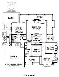 great room central kitchen w dining library rm interesting layout first floor plan of the jenner house plan number 1185