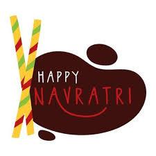 happy navratri celebration with