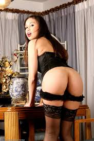 Brunette Asian Babe Sasha Yung with Black Hair Wearing Braces.