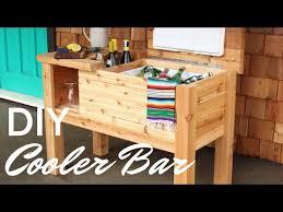to build a portable deck cooler bar