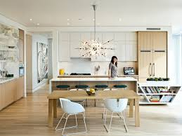 marvelous sputnik chandelier trend portland contemporary kitchen image ideas with breakfast bar ceiling lighting eat in kitchen flat panel cabinets kitchen