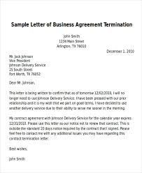 Sample And Template Letter For Terminating Of Business Agreement