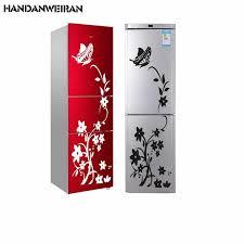 2019 NEW <b>creative butterfly flower</b> wall sticker rattan refrigerator ...