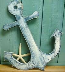 neoteric anchor wall decor wooden sign beach lake house cottage nautical boat art by the faithful