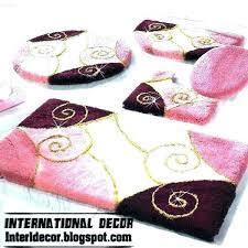 bath rug sets pink bathroom set rugs 3 piece target on at kohls