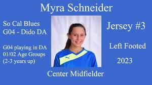 Myra Schneider USSDA Soccer Highlight Video - YouTube