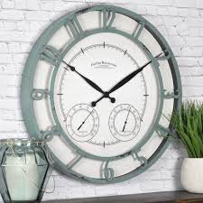 large size of wall decor solar powered outdoor wall clock exterior wall clocks outdoor clock thermometer
