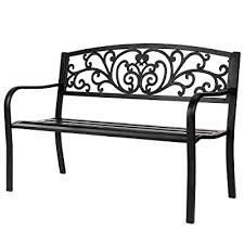 vingli 50 patio park garden bench