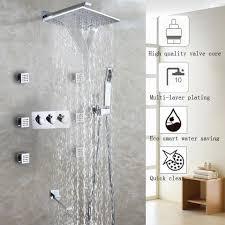 Großhandel Wasserfall Badezimmer Dusche Wasserhahn Set Chrom