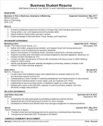 Business Student Resume Template