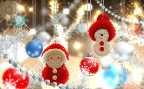 cute christmas tree wallpaper. Simple Wallpaper Cute Santa And Snowman In The Christmas Tree Wallpaper And Tree Wallpaper 0