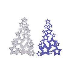 Amazon Com Ocamo New Christmas Tree Cut Die Metal Stencil