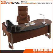 high office desk. Modern High Tech Curved Executive Office Desk With Side Table