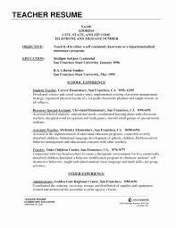 Career Objective For Teacher Resumes Teacher Objectives For Resumes Inspirational Science Teacher Resume