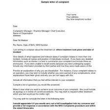 Letter Of Complaints Sample Letter Complaint Example Formal New Best Plaint Email Template Xe 19