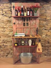 bar made from old door and s wood