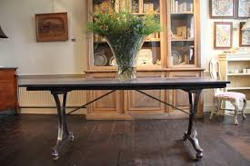 early 20th century industrial dining table desk
