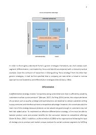 strategic management essay porter s generic strategies and strategi   porter s generic strategies 2