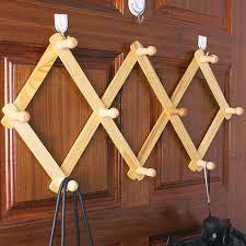 Metal Accordion Coat Rack Clothing Hooks amazing expandable wall rack Wood Accordion Wall 48
