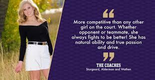 Senior Spotlight: Girls tennis player Ava Johnson – Holy Family Lamp Post