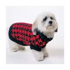 Free Knitted Dog Sweater Patterns Simple Houndstooth Dog Sweater Knitting Pattern FREE Knitting Pattern