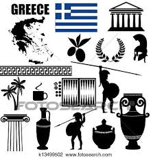 Traditional Symbols Clipart Of Traditional Symbols Of Greece K13499502 Search Clip Art