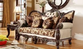 Traditional Chairs For Living Room 610 Catania Traditional Living Room Set In Dark Cherry By Meridian