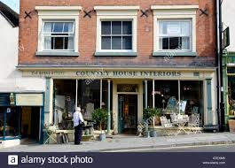 Front Facade Of Country House Interiors Shop In Ludlow Shropshire - Home interiors uk