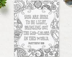 Small Picture Printable Bible Verse Coloring Pages Instant Download Coloring