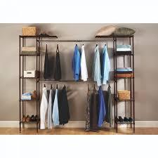 expandable closet organizer system satin bronze