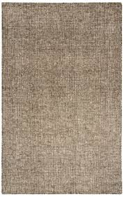 rizzy rugs brown tufted wool single color contemporary area rug solid tal105