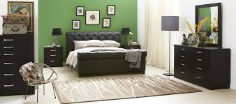 Leather Bedroom Suite Forty Winks Century Luxurious Modern Studded Leather Bed And Black