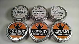 Coffee, honey, sugar, creamer [corn syrup solids, vegetable oil (partially hydrogenated coconut or palm kernel, hydrogenated soybean), sodium casseinate (a milk derivative), and less than 2% of dipotassium phosphate (moderates coffee acidity), mono. New 6 Pack International Shipping United States 3 Mlb 3 Cowboy Coffee Chew Usa Ebay