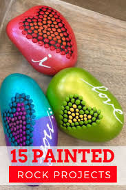 15 awesome painted rock projects to paint including inspirational, breast  cancer, and fairy garden