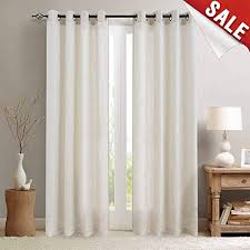 Curtains for picture window Double Jinchan Linen Curtains For Living Room Drapes Flax Window Curtain Panels For Bedroom 1 Pair Large Window Curtains Amazoncom